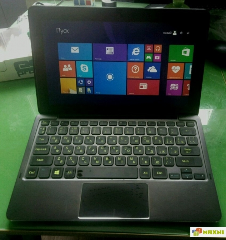 """Dell 11"""" core I5-4300Y 8 Гб,128 SSD p1080"""