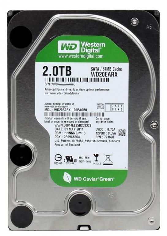 WD 2Тб Green HDD SATA-III 64mb Новый  Товар продан!!!