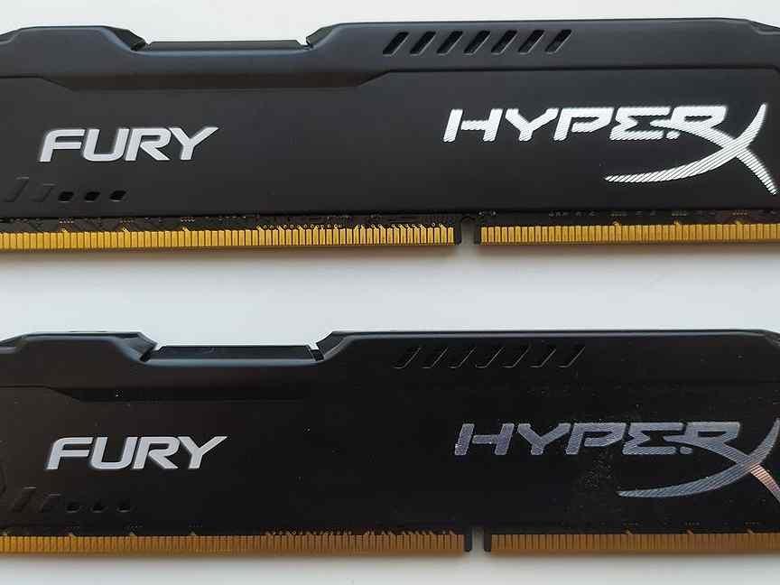 HyperX fury Black 8 гб DDR3 1600мгц