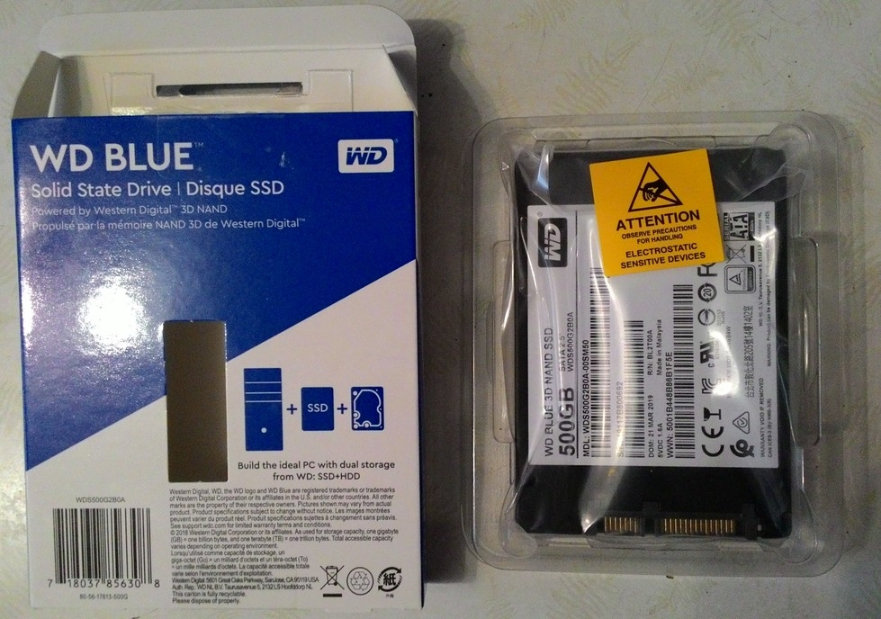 500 гб SSD-накопитель WD Blue (WDS500G2B0A)  ПРОДАНО!