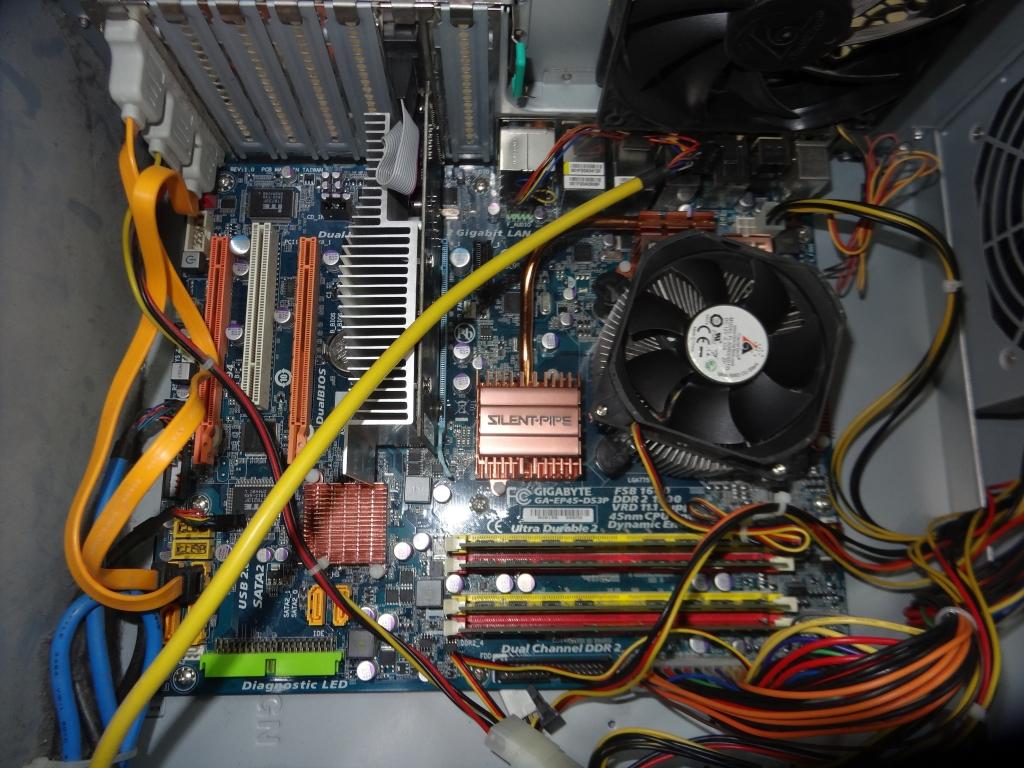 Gigabyte GA-EP45-DS3P-сервак+проц+охлаждение
