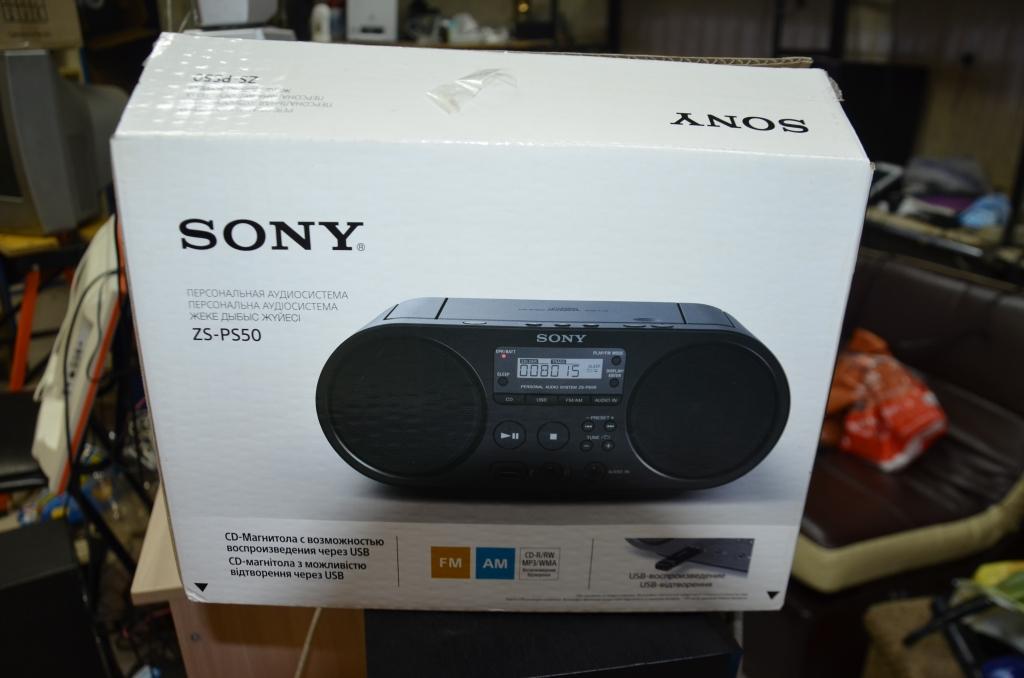 Sony zs-ps50 USB,FM,диск,упаковка