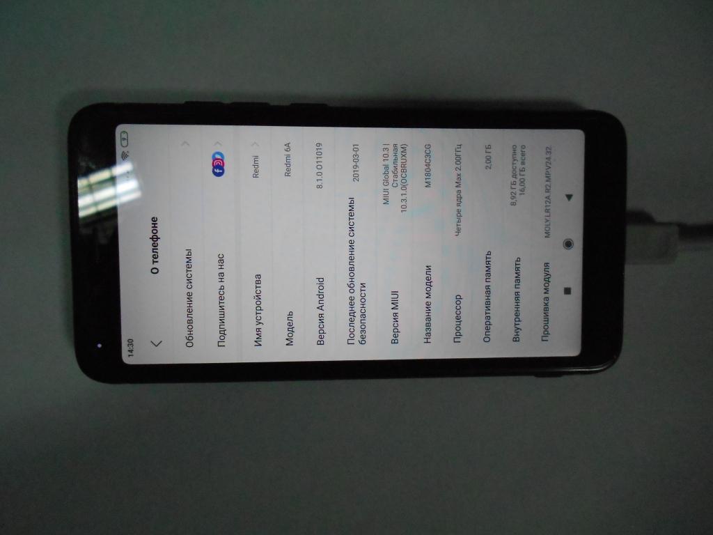 "Xiaomi Redmi 6a экран 5.45"" В хорош.сост"