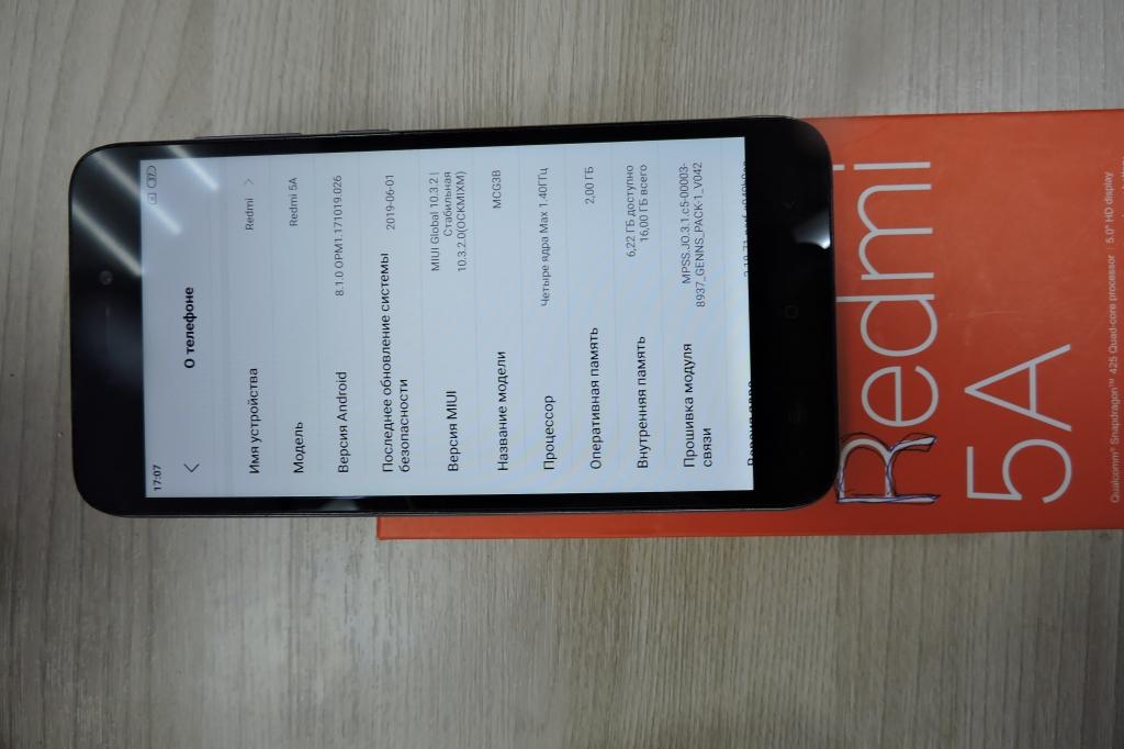 "Xiaomi Redmi 5a 5"" android 8.1.0 упаковка документы"
