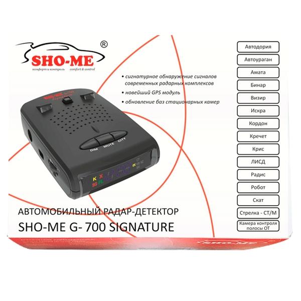 Радар-детектор SHO-ME G-700STR GPS Новый