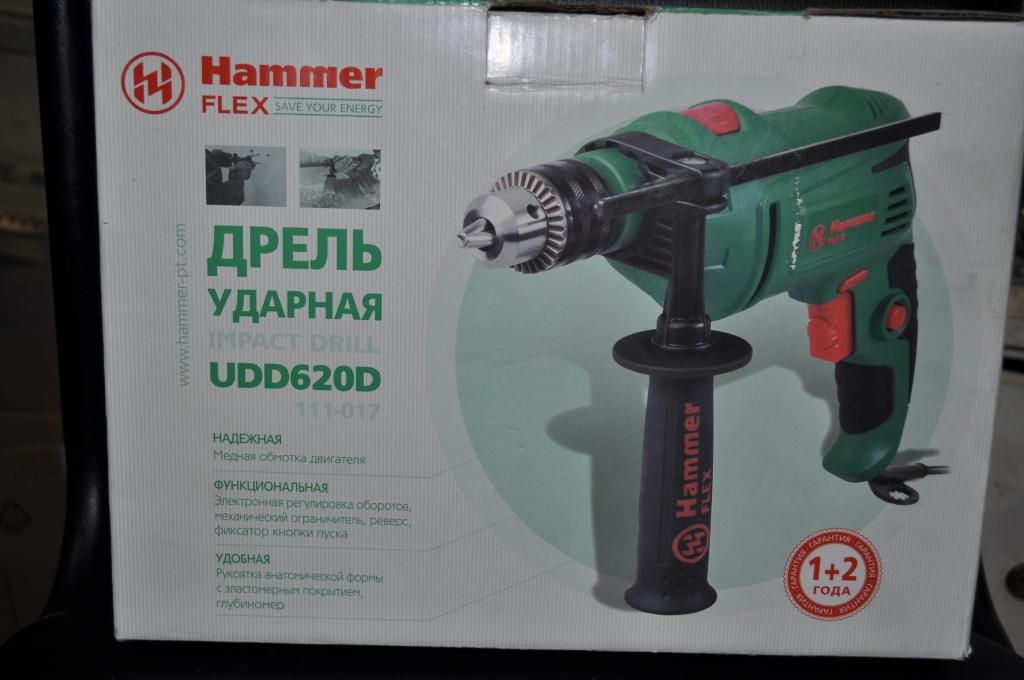 Дрель Hammer Flex UDD620D на гарантии